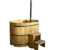 Фурако со встроенной дровяной печью