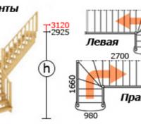 Лестница из сосны К-021м