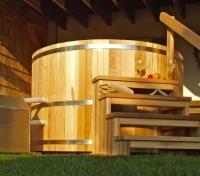 Купель DunDalk с подогревом из красного канадского кедра, 182 см