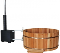 Купель PREMIO, с подогревом (выносная печь), выс. 1,0 м, канадский кедр (Финляндия)