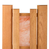 Абажур WoodSon из дуба с гималайской солью, угловой
