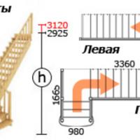 Лестница из сосны К-022м