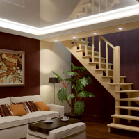 Лестница из сосны К-031м