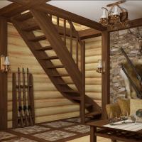 Лестница из сосны ЛС-07м
