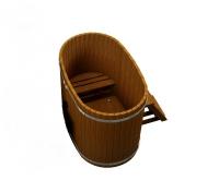 Купель Fispars из термодревесины без печки (1,3 м)
