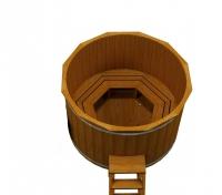 Купель Fispars из термодревесины без печки (2,4 м)